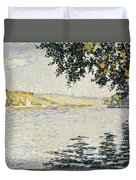 View Of The Seine At Herblay     Duvet Cover