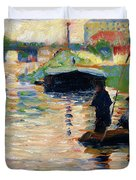 View Of The Seine - Digital Remastered Edition Duvet Cover