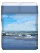 View Of The Texas Gulf Duvet Cover