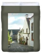village cobbled lane in Culross Duvet Cover
