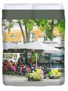 Vilnius Summer Time Leisure Time  Duvet Cover