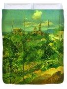 Vineyard At Vico Duvet Cover
