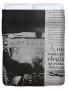 Vintage Alitalia Airline Advertisement Duvet Cover
