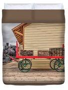Vintage Baggage Cart Duvet Cover
