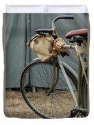 Vintage Bicycle World War II  Duvet Cover