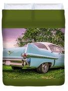 Vintage Blue Caddy American Vintage Car Duvet Cover