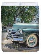 Vintage Car Chevy Fleetmaster Duvet Cover