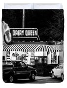 Vintage Dairy Queen At Night Duvet Cover