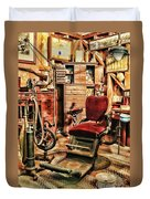 Vintage Dentist Office And Drill Duvet Cover