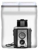 Vintage Eastman Kodak Brownie Reflex Synchro Model Film Camera Duvet Cover