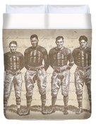 Vintage Football Heroes Duvet Cover by Clint Hansen
