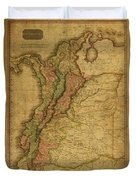 Vintage Map Of Columbia 1818 Duvet Cover