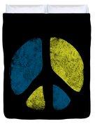 Vintage Peace Sign Duvet Cover