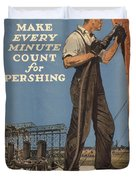 Vintage Poster - Make Every Minute Count Duvet Cover