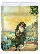 Vintage Poster - Malta Duvet Cover
