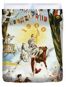 Vintage Poster - Mobile Mardi Gras Duvet Cover