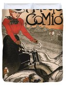 Vintage Poster - Motocycles Comiot Duvet Cover