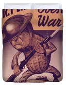 Vintage Poster - Mr. Peanut Goes To War Duvet Cover