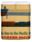 Vintage Poster - Southern Pacific Duvet Cover