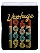 Vintage Retro Since 1963 Birthday Gift Duvet Cover