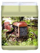 Vintage Rusted Tractor Duvet Cover