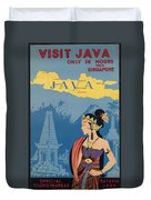Vintage Travel Poster - Java Duvet Cover