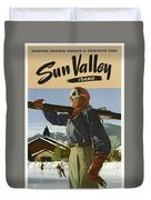 Vintage Travel Poster - Sun Valley, Idaho Duvet Cover