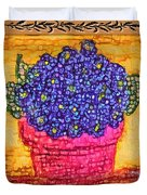 Violets Are  Blue  Duvet Cover