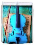 Violin Blues Duvet Cover