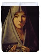Virgin Annunciate By Messina Duvet Cover