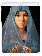 Virgin Of Annunciation Painting By Antonello Di Antonio Dit Antonello Da Messina Duvet Cover