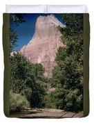 Virgin River And Cliff In Zion National Park, Utah - Utah300 00303 Duvet Cover