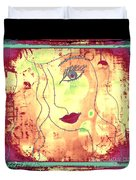 Visage De Lumiere Duvet Cover by Rachel Maynard