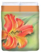 Vivid Orange Daylily Duvet Cover by MM Anderson