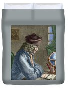 Voltaire In His Office In Vernay Duvet Cover