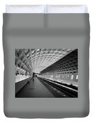 Waiting At Pentagon City Station Duvet Cover by Lora J Wilson