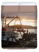 Waiting For The Boat Duvet Cover