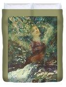 Waking Forest Duvet Cover