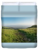 Walking Downhill Large Trail With Silicon Valley At The End Duvet Cover