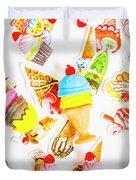 Wall Of Sweetness Duvet Cover