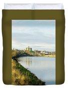 Warkworth Castle And River Aln Duvet Cover