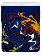 Warped Wet Paint Abstract In Comic Book Colors Duvet Cover by Shelli Fitzpatrick