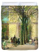 Washington Arch, Spring - Digital Remastered Edition Duvet Cover