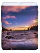 Washington Coast Sunset Sands Duvet Cover