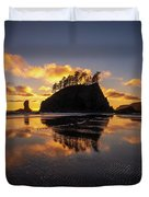 Washington Coast Weeping Lady Sunset Cloudscape Duvet Cover