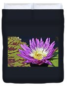 Water Lily On The Pond Duvet Cover