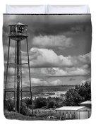 Water Tower In Hillsborough New Brunswick Duvet Cover