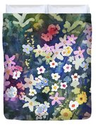 Watercolor - Alpine Wildflower Design Duvet Cover