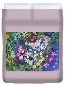 Watercolor - Alpine Wildflower Design Duvet Cover