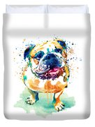 Watercolor Bulldog Duvet Cover